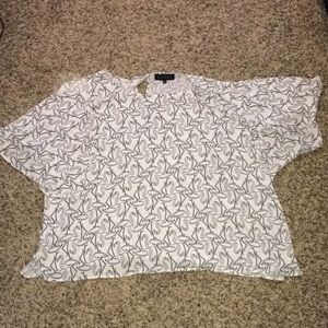 Tops - Plus size flutter sleeve flamingo print top